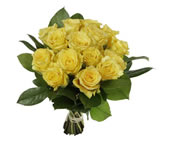 Melbourne flower: 15 yellow roses