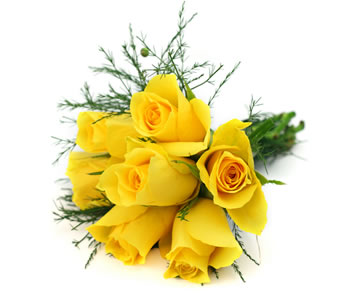 7 yellow roses